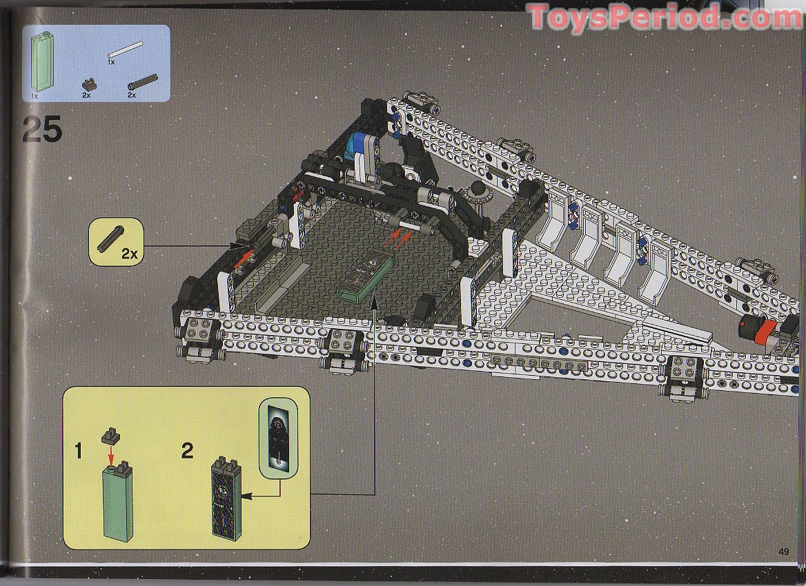 Lego 6211 Imperial Star Destroyer Set Parts Inventory And