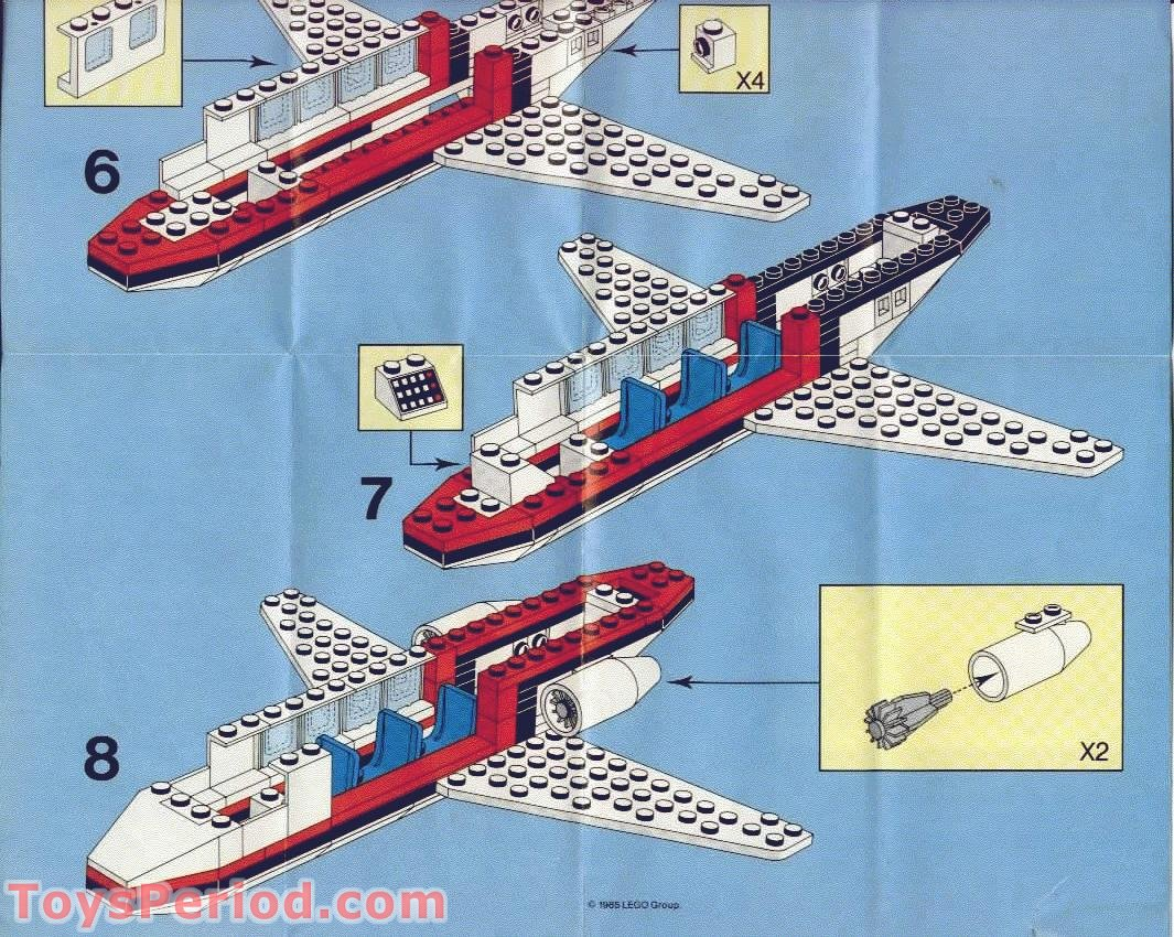 Lego 6368 Jet Airliner Set Parts Inventory And