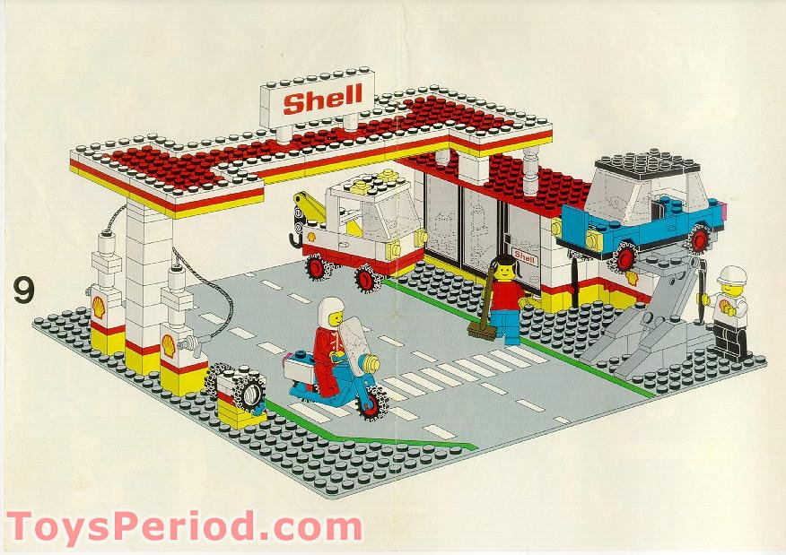 Lego 6371 Service Station Set Parts Inventory And