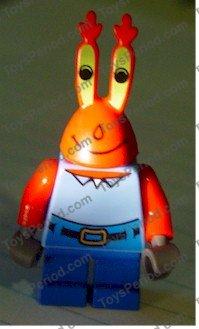 LEGO-MINIFIGURES SERIES X 1 TORSO SPONGEBOB WITH HIGH WAIST,BLUE PANTS,RED NECK
