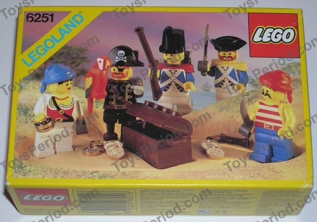 Lego 6251 Pirate Minifigures Set Parts Inventory And Instructions