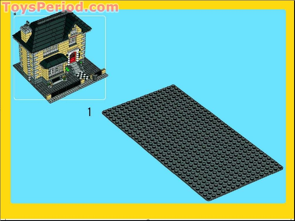 Lego 4954 Model Town House Set Parts Inventory And