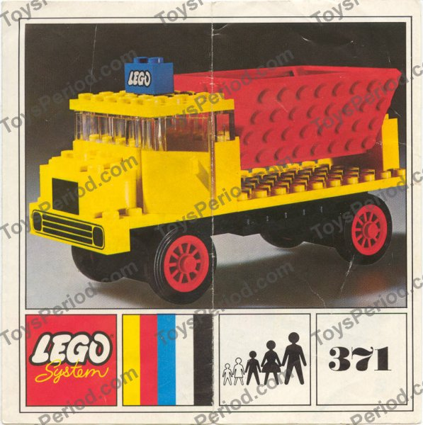 Lego 371 1 Tipper Truck Set Parts Inventory And Instructions Lego