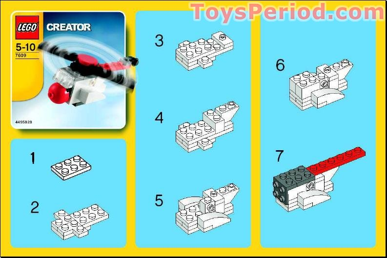 lego creator 3 in 1 helicopter instructions