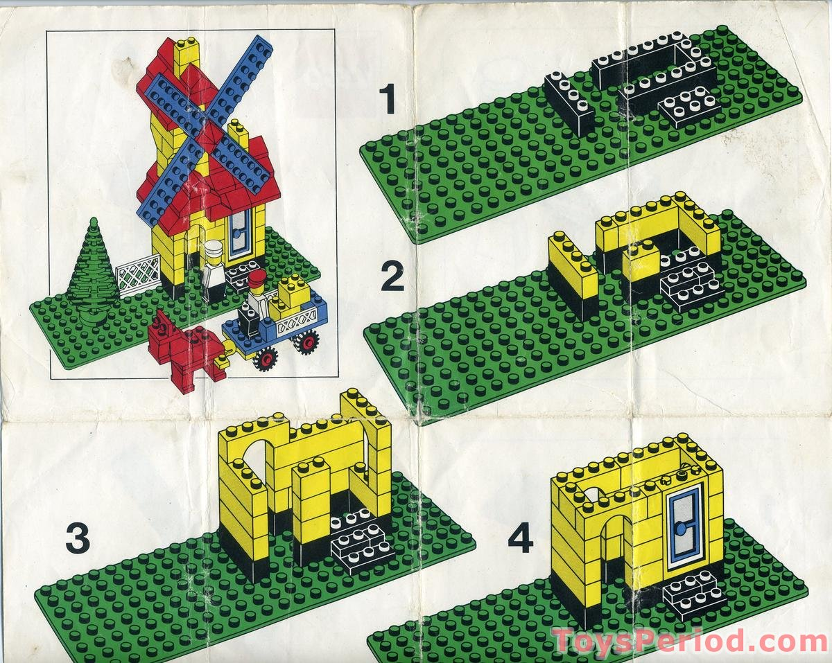 Legos For Free Lego 00 4 Weetabix Promotional Windmill Set Parts Inventory And