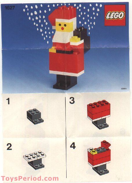 Lego 1627 Santa Set Parts Inventory And Instructions Lego