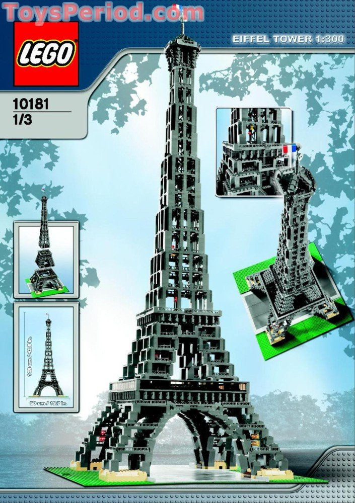 LEGO 10181 Eiffel Tower 1:300 Scale Set Parts Inventory ...
