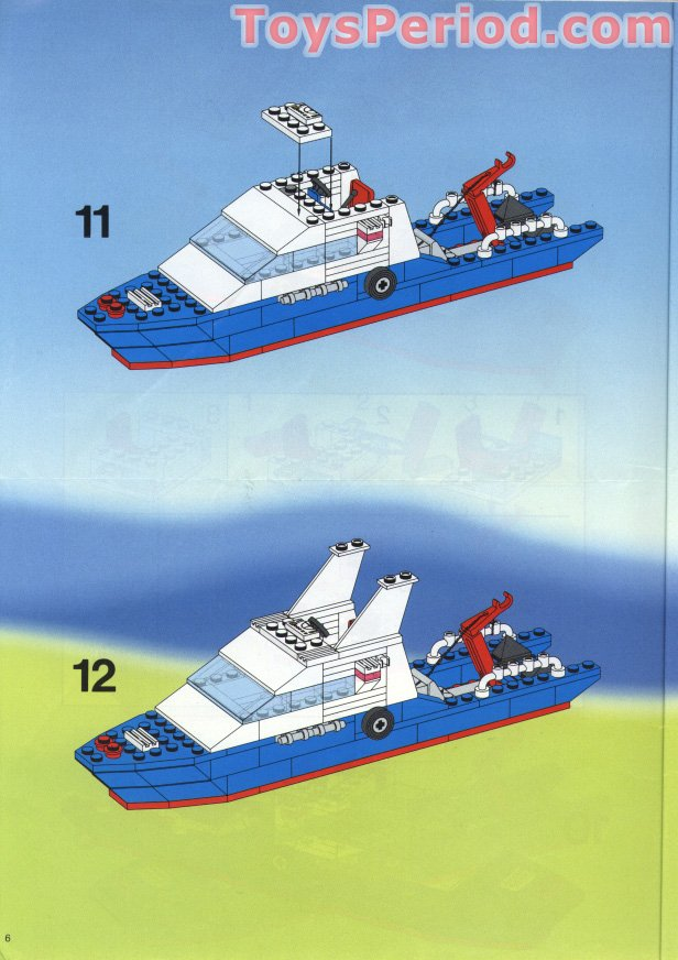 Lego 6353 Coastal Cutter Set Parts Inventory And