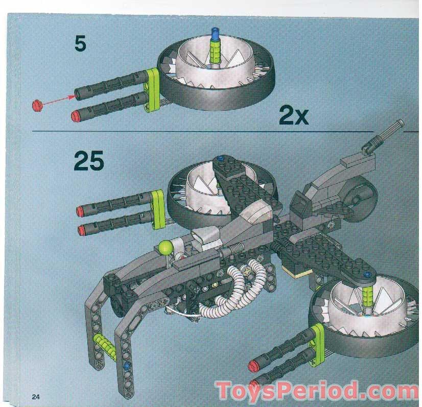 LEGO 7704 Sonic Phantom Set Parts Inventory and Instructions - LEGO
