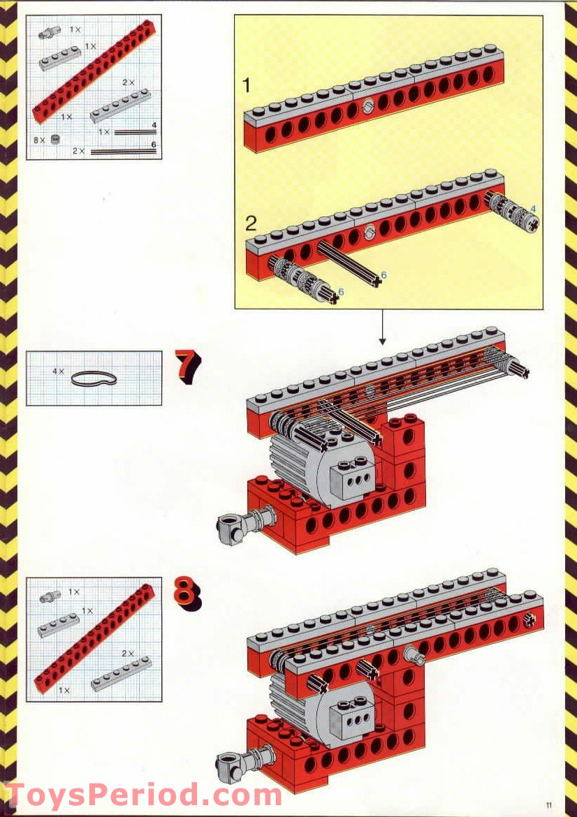 Lego 8055 Universal Building Set With Motor Parts Inventory And 3x3 Super Circuit Workout Working It Out Pinterest Free Instruction Scan Download For