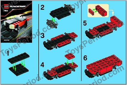 LEGO PART 50949 RED PLATE MODIFIED 1 X 2 WITH RACERS CAR GRILLE
