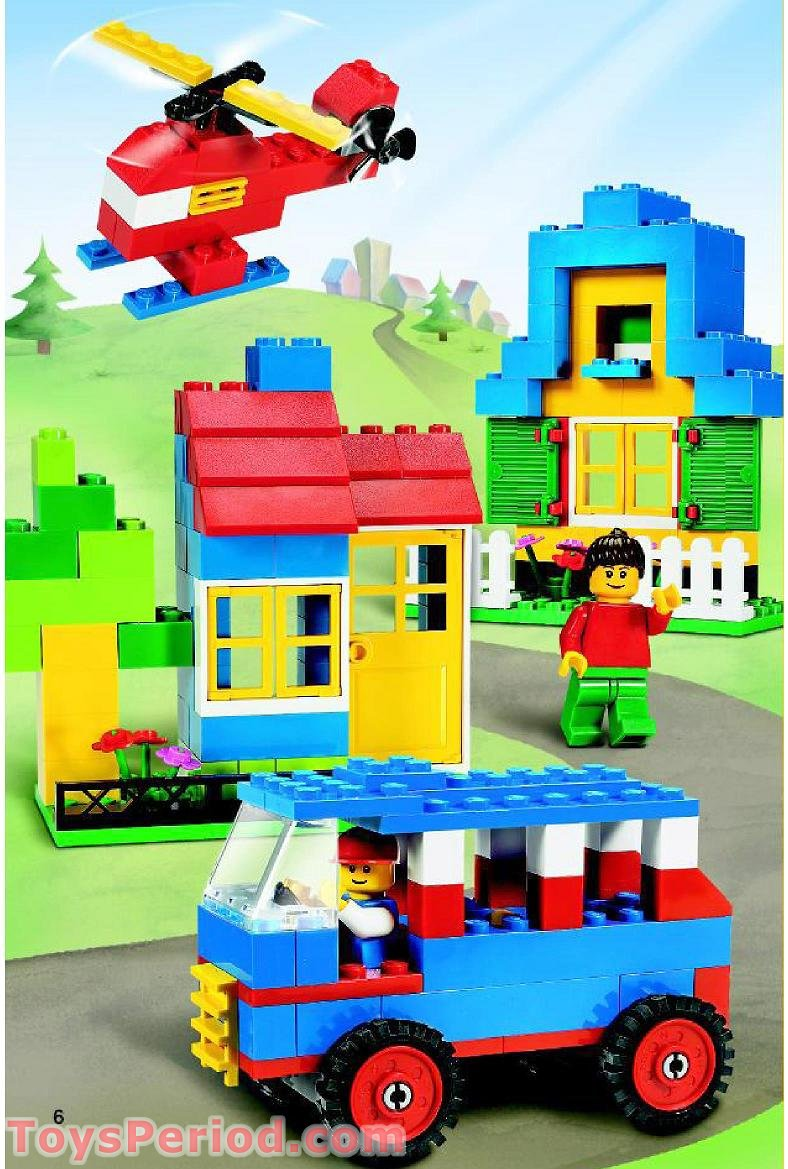 Lego 7615 Basic Blue Bucket Set Parts Inventory And