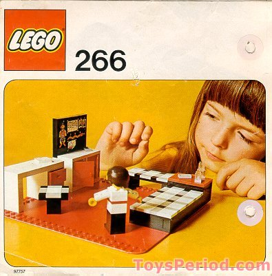 Lego 266 1 Child S Bedroom Set Parts Inventory And