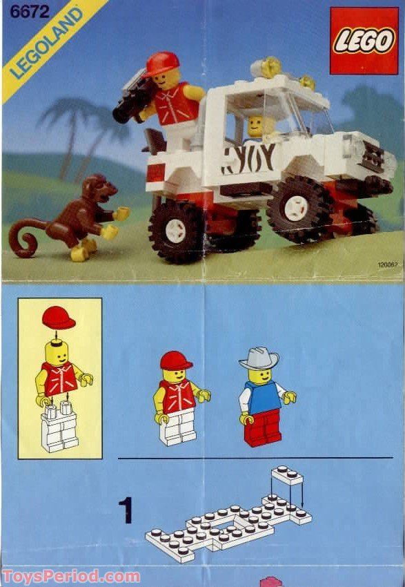 lego 6672 safari off road vehicle set parts inventory and instructions lego reference guide. Black Bedroom Furniture Sets. Home Design Ideas