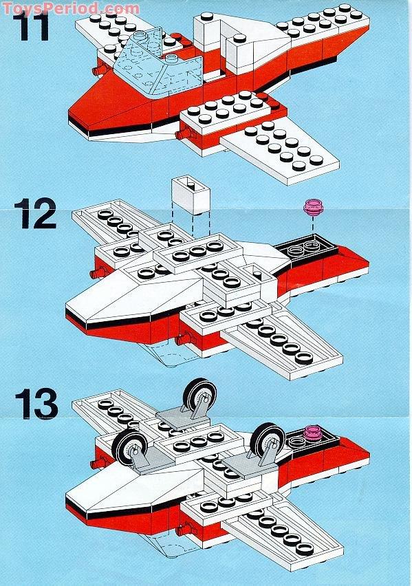 Lego 6687 Turbo Prop I Set Parts Inventory And Instructions Lego