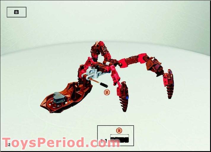 Lego 8745 Visorak Roporak Set Parts Inventory And