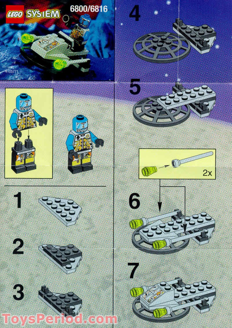 Lego 6816 Cyber Blaster Set Parts Inventory And