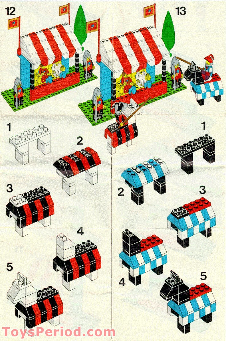 Lego 6083 1 Knight S Tournament Set Parts Inventory And