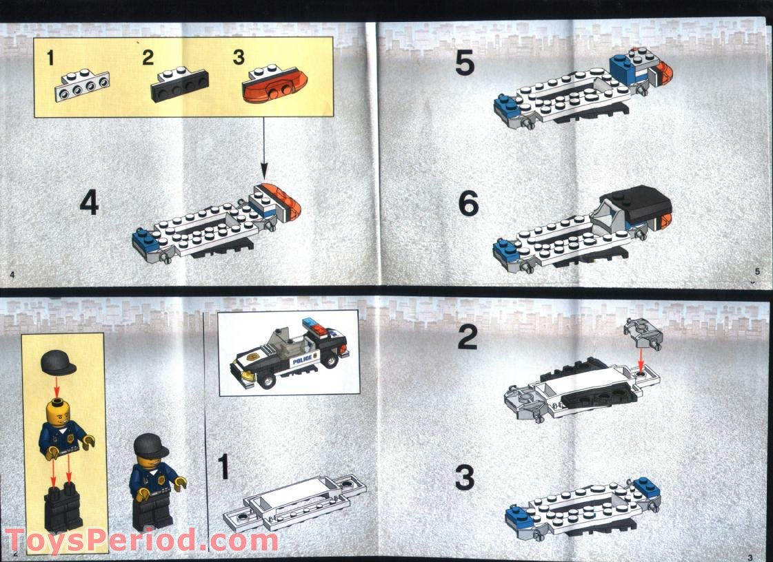 lego city police car instructions