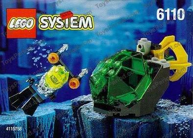 LEGO Blue 2x2 Aqua Submarine Computer Slope