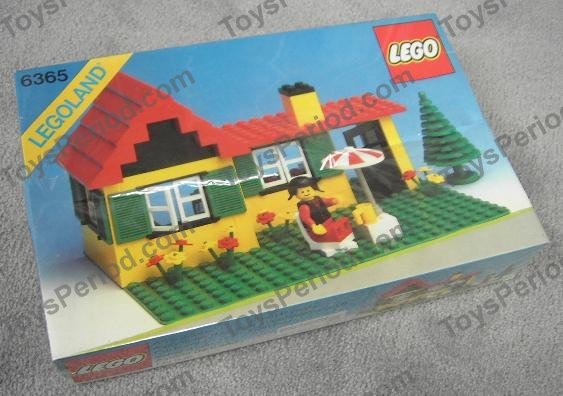 Lego 6365 summer cottage set parts inventory and for Modele maison lego classic
