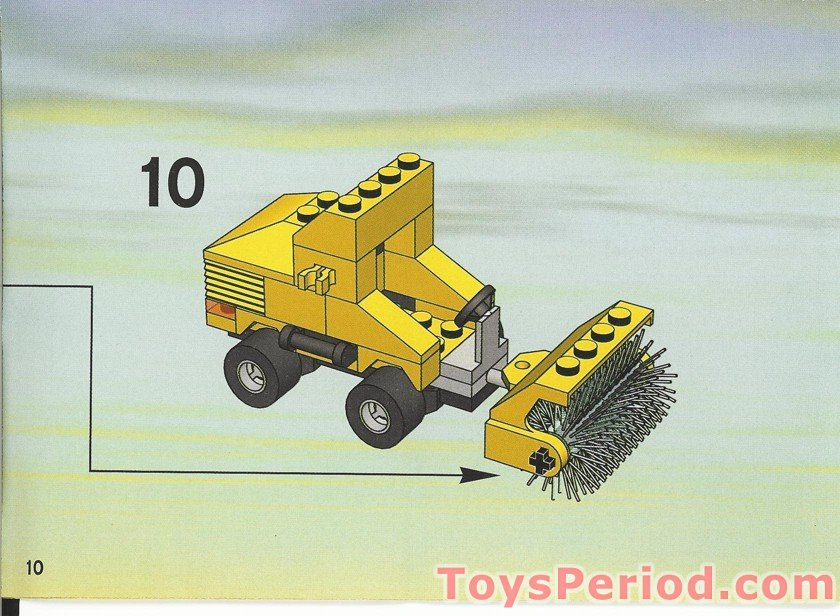 Building Toys From The 90s : Lego street sweeper set parts inventory and