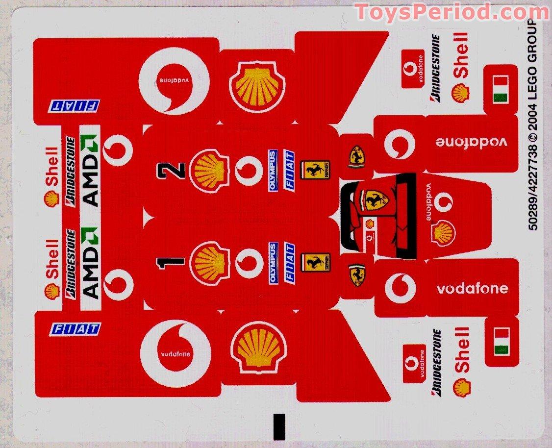Lego 8362 Ferrari F1 Racer 1 24 Scale Set Parts Inventory