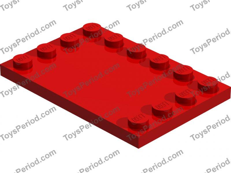 colore a scelta LEGO 6180 Piatto modificato con studs 4x6