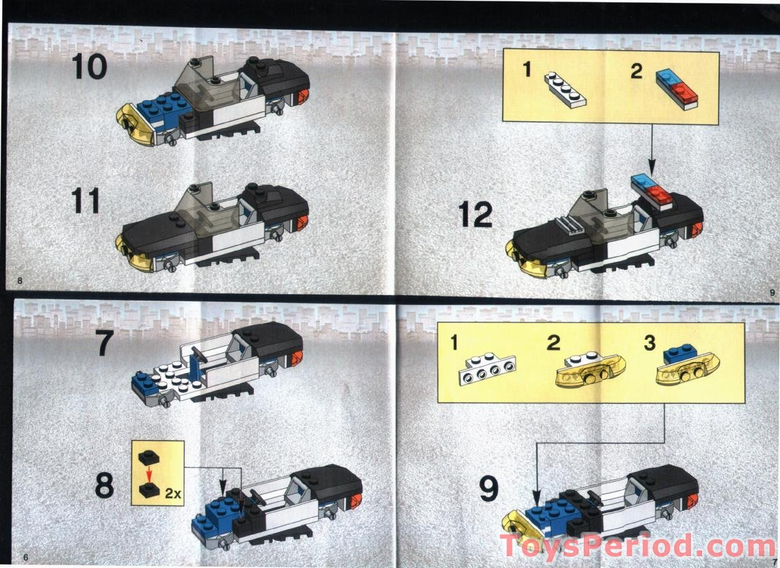 Lego 7030 Squad Car Set Parts Inventory And Instructions Lego