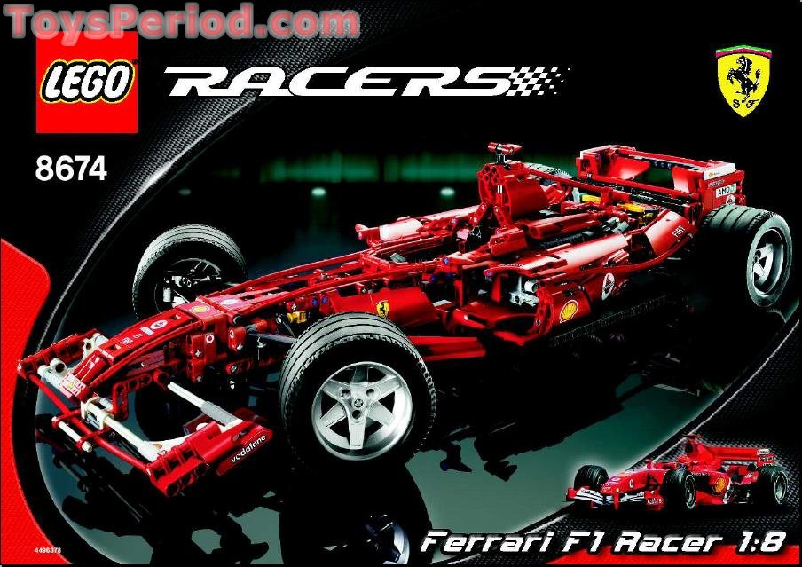 Lego 8674 Ferrari F1 Racer 1 8 Set Parts Inventory And