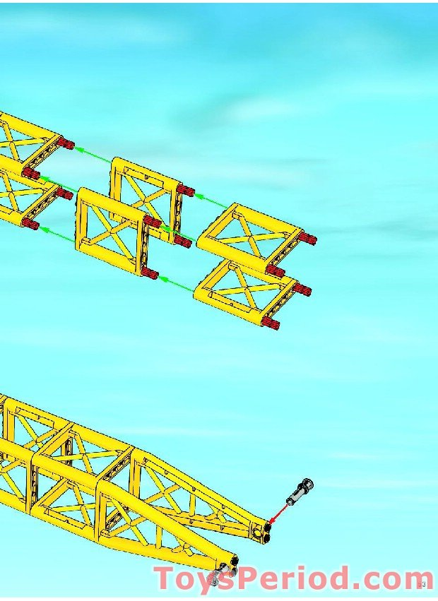 LEGO Yellow Support Girder Triangular ref 64449 set 7632 Crawler Crane
