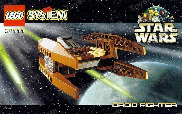 set 7111 Droid Fighter LEGO Star Wars OldBrown wedge ref 30382