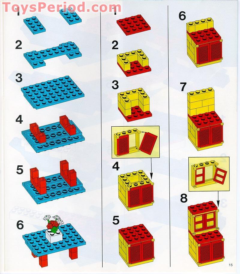 LEGO 4180c02assy1 Brick Modified 2 x 4 with Wheels Freestyle 3483 x1