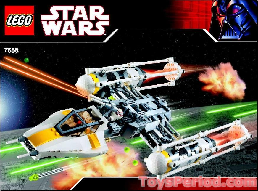 Lego 7658 Y Wing Fighter Set Parts Inventory And