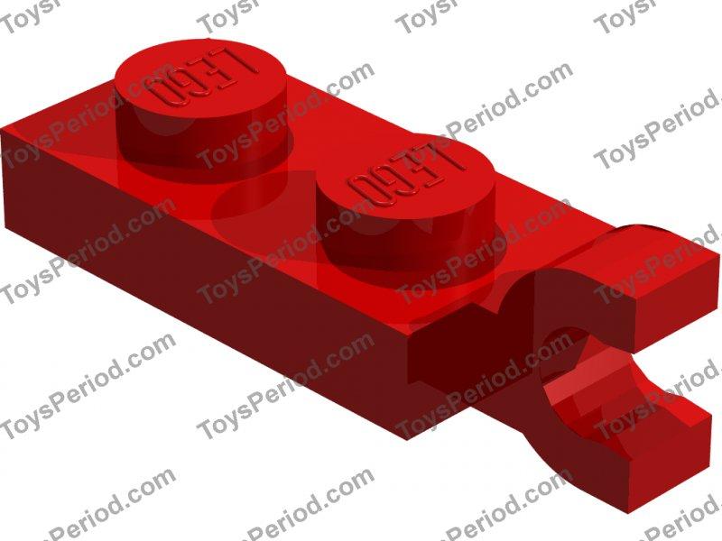 4x Flach Modified 1x2 Clip Horizontal Schwarz//Schwarz 63868 Neu Lego