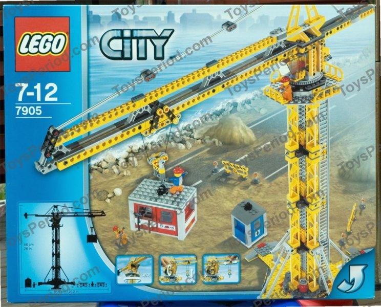 Lego 7905 Building Crane Set Parts Inventory And Instructions Lego
