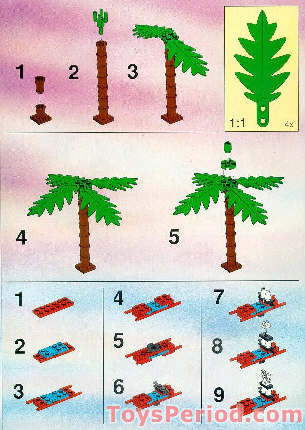 Lego 6278 Enchanted Island Set Parts Inventory And Instructions
