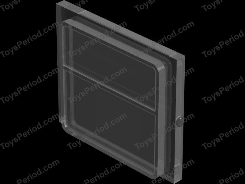 lego part glass for train window 1 x 4 x 3