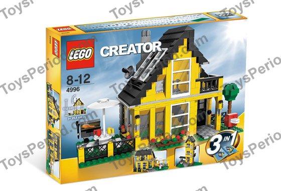 Lego 4996 beach house set parts inventory and instructions for Lego house original