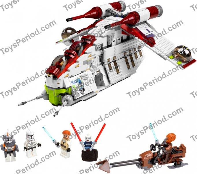 2 x 4162 mdstone from 7676 Republic Gunship lego star wars