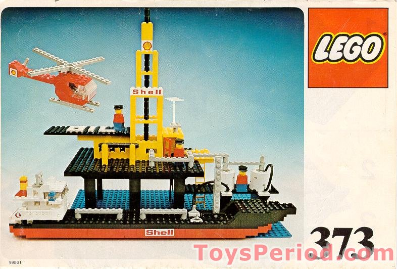 Lego 373 1 Offshore Rig With Fuel Tanker Set Parts