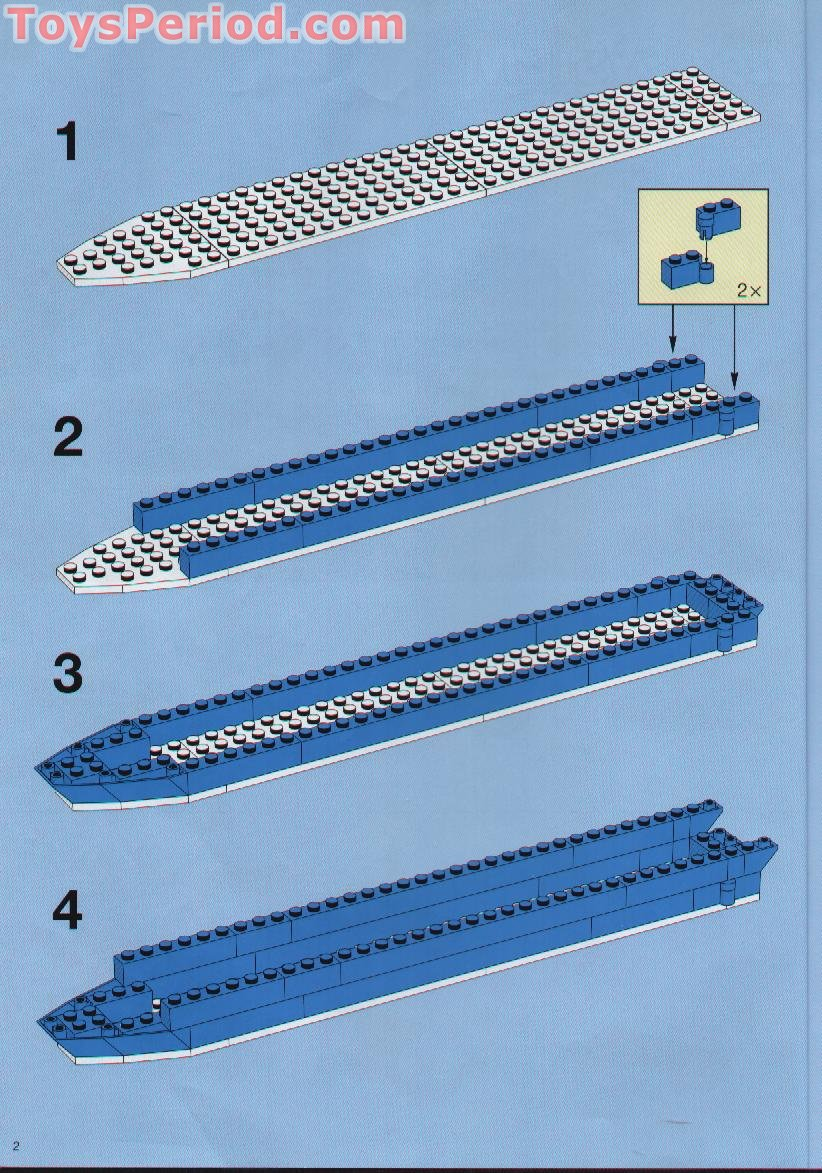 LEGO 1955 Color Line Promotional Set, Cruise Ship Set Parts Inventory ...