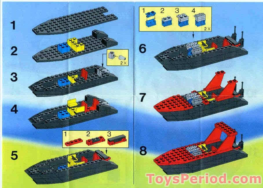 Lego 6679 1 Dark Shark Set Parts Inventory And Instructions Lego
