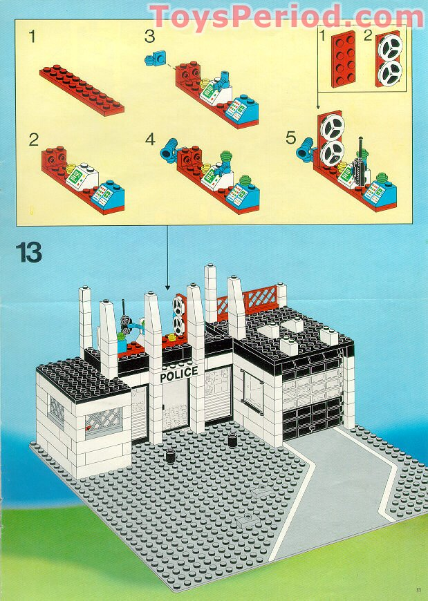 Lego 6386 Police Command Base Set Parts Inventory And Instructions
