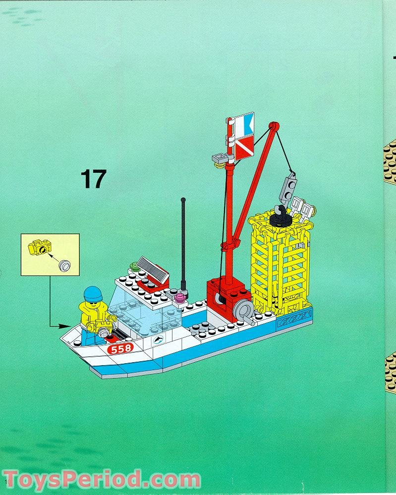 Lego 6558 Shark Cage Cove Set Parts Inventory And Instructions