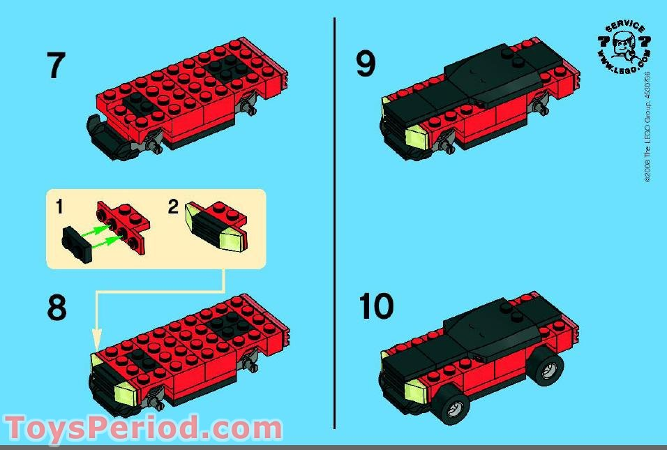how to build a lego sports car instructions