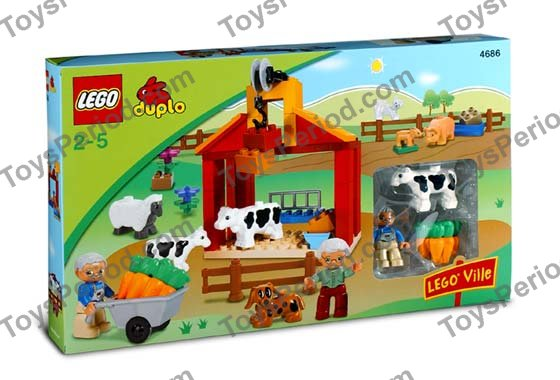 Lego 4686 Little Farm Set Parts Inventory And Instructions