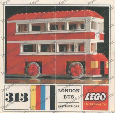 lego 313 1 london bus set parts inventory and instructions lego reference guide. Black Bedroom Furniture Sets. Home Design Ideas