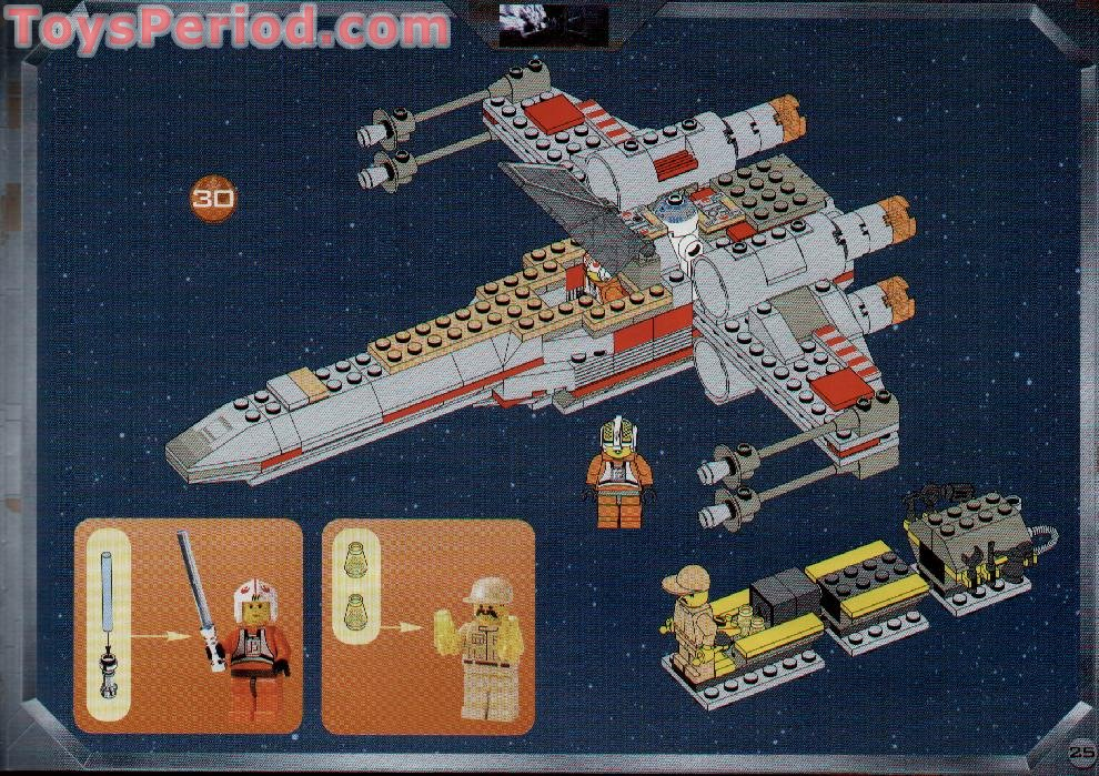 Lego 7140 X Wing Fighter Set Parts Inventory And Instructions Lego