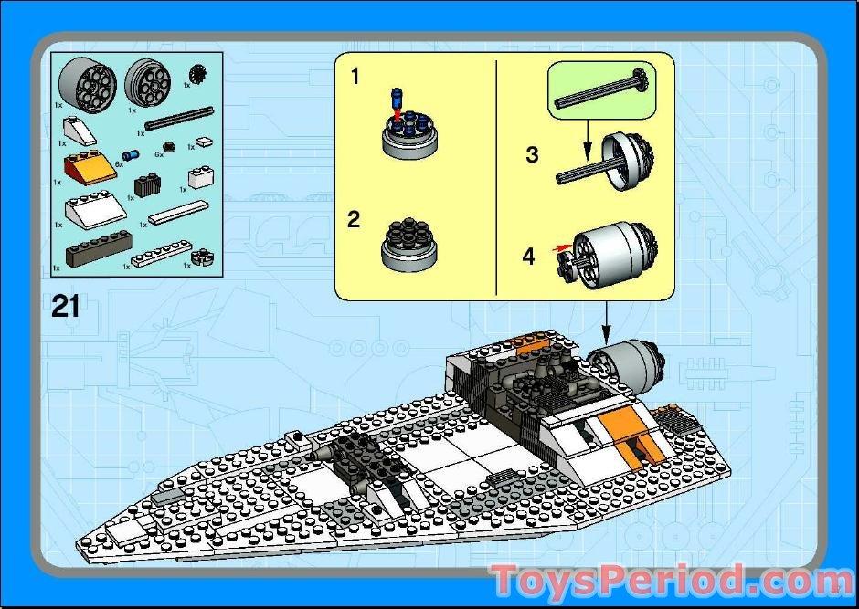 lego star wars snowspeeder instructions